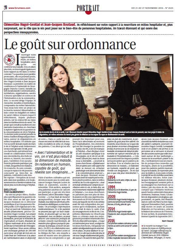 Article Journal du Palais - Le goût sur ordonnance