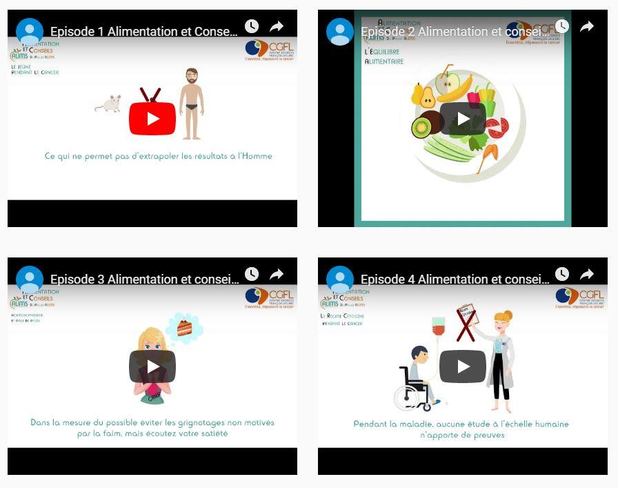 vidéos « Alimentation et conseils »