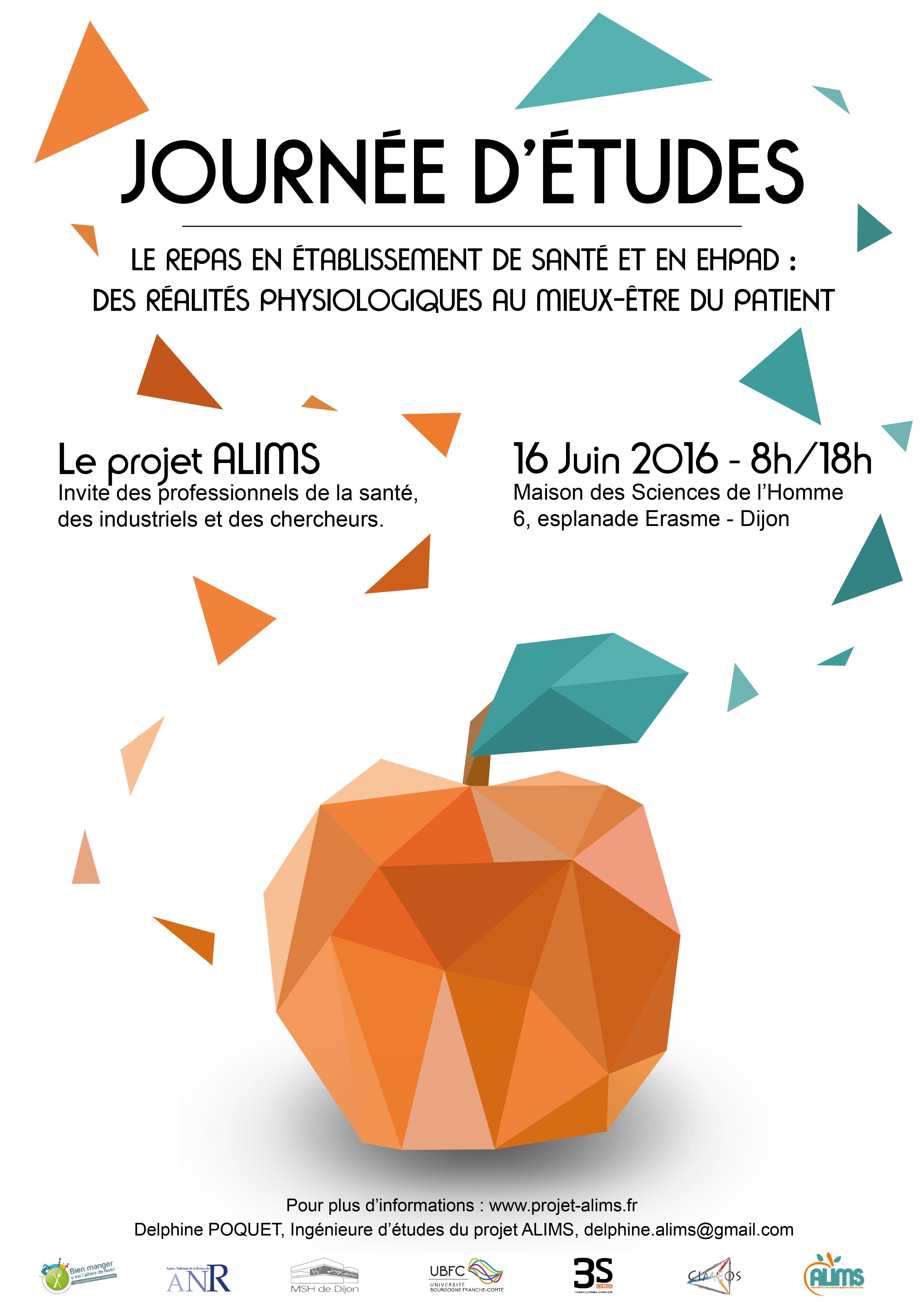 Affiche Journée d'Etudes du 16 Juin 2016