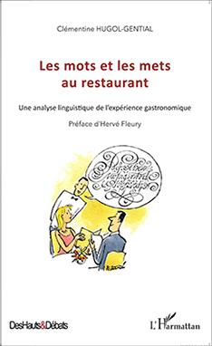 """Couverture du livre """"les mots et les mets au restaurant"""""""